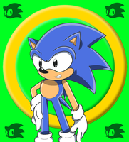 Classic Sonic Colored :Deminohoyer: by SQuietSonamy