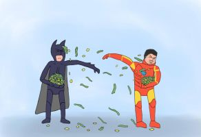 Batman vs Iron-man: THE ULTIMATE BATTLE by rda-Highlander