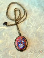 Collana vintage floreale by ichigocreations