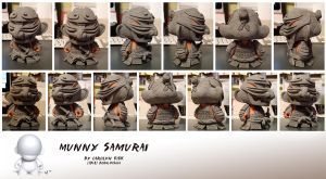 Munny Samurai WIP by Bone-Fish14