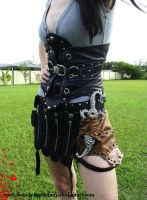 corset and utility belt skirt by Hidden-Treasury