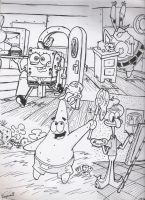 spongebob and others by roman94