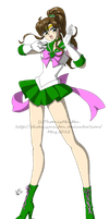 Sailor Jupiter color test by PhiMouse