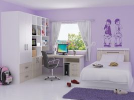A Girl's Bedroom by Lonshaft