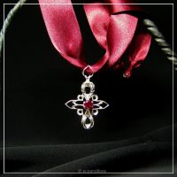 gothic rose.pendant by ThundersSilence