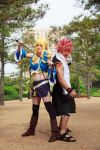 Natsu and Lucy from Fairy Tail Cosplay by firecloak