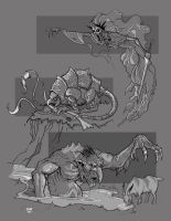 Banshee Rust Monster and Troll by cwalton73