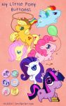 My Little Pony Buttons by Chukairi