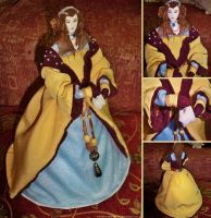 Elizabethan Lady OOAK Doll by MariaHasAPaintBrush
