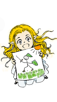 Chibi Zelda with Link Drawing by katethegreat19