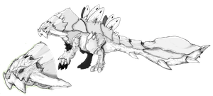 monster hunter fakemonster: anquiros simple by REALzeles
