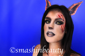 Sexy Werewolf Halloween Makeup 2013 by smashinbeauty