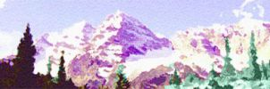Maroon Bells Water Color by drkdsgn