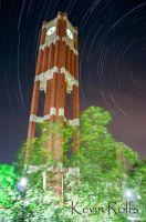 Bizzell Library Clock Tower Star Trail by Bvilleweatherman
