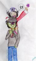 Murdoc and Noodle by FallOutGirlxD