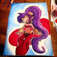 Shantae Watercolor  by Zerrazoid