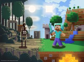Sword and Sworcery and Minecraft. by Wonderwig