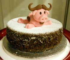 ''Porco gnu!'' cake by Efreet-in-the-Oven