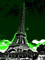 Green Eiffel Tower by Smilkman