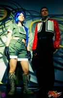 Leona Heidern and Rock Howard by NekoFlameAlchemist