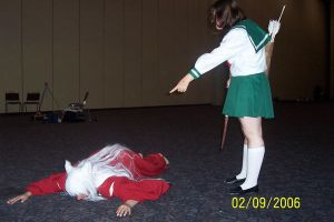 Sit - Kagome and Inuyasha by LaMisere