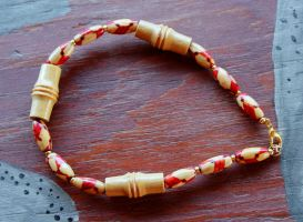 Wood and Bamboo Bracelet by lupagreenwolf
