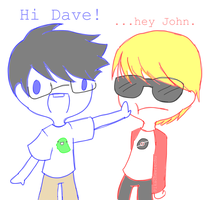 John and Dave by iamawsum
