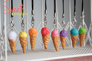 Polymer clay: Ice cream by LittleSweet
