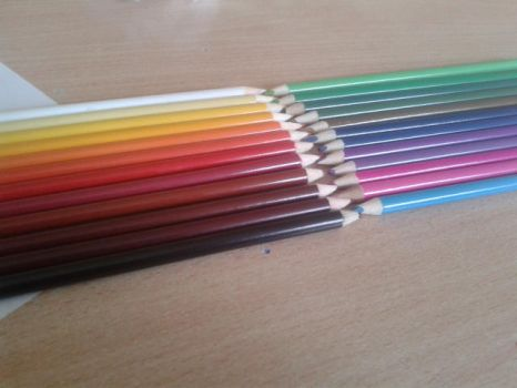 me sorting pencils by color by PencilFromCydonia