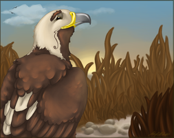 Doug the eastern imperial eagle by LadyWithStapler