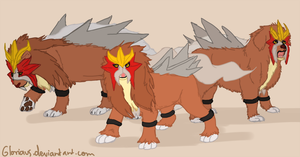 Entei interpretations by Gloriaus
