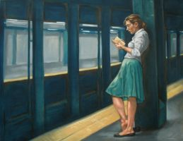 Subway Reader by asantell