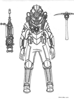 Tenebrean Mining suit and Tech W.I.P. by Athalai-Haust