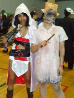 Ezio and Nurse from SH by DantellaCosplay