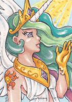 ACEO: Princess Celestia by nickyflamingo