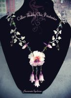 Shabby Chic Spring necklace and flowers by Verope