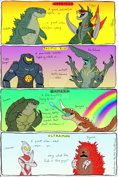 Kaiju Heroes and Villains by RoFlo-Felorez