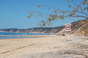 Speed Limit Sign Rainbow Beach by awesomeizzy