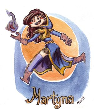 Martyna the Shadowpriest by mazosia