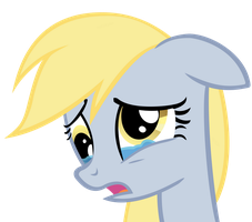 Sad Derpy by anitech