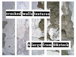Cracked Wall Textures by DXstock