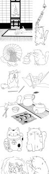 Cats in Japan by PattesDeVeloursAndCo