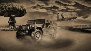 Hummer H1 is in danger by wswsart