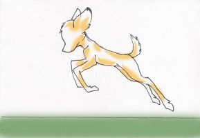 Bambi's running by AllesiaTheHedge