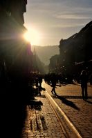 Busy Street in Brasov by SauleaPhotography