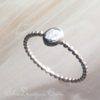 Pounded Pebble Sterling Ring by che4u