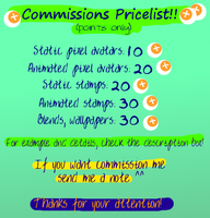 My commission pricelist!!! COMMISSIONS OPEN by JEricaM