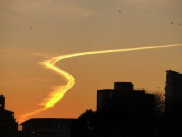 Jet Trail Sunset by TheSoftCollision