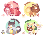 [AUCTION :: CLOSED] Nihon Flufferbun Batch by Lattecatz