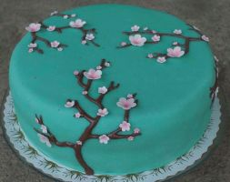 Cherry Blossom Cake by YellowDaw